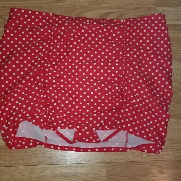7f1e1b25294 Torrid Polka Dot SWIM Ruched Skirt Bottom